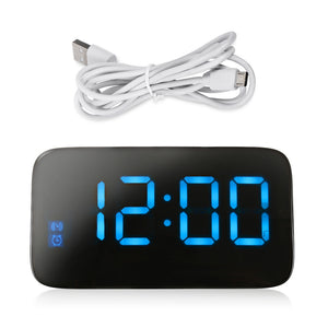 Coupcou.com: JK - 015 Large LED Digital Alarm Clock Supports Voice Control