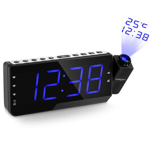 Coupcou.com: ZEEPIN PRA - 001 Digital Projector Clock Radio Alarm Snooze Timer Temperature