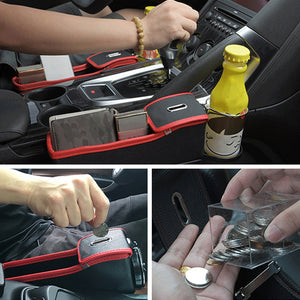 Coupcou.com: Leather Side Pocket Organizer Car Seat Filler Gap Space Storage Box