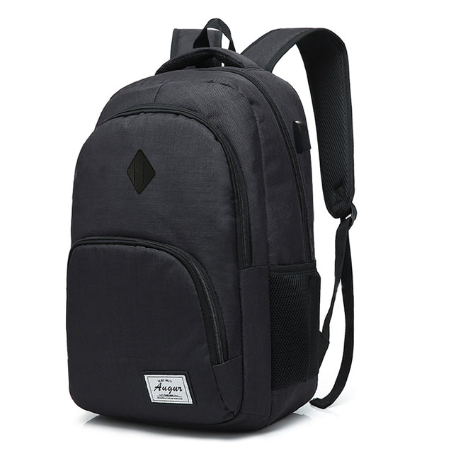 Coupcou.com: AUGUR Men Women Backpacks USB Charging Male Casual Travel Teenager Student School Notebook Laptop Bag