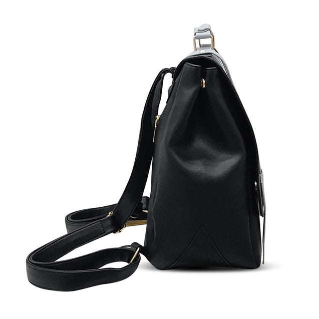 Coupcou.com: Stylish Soft PU Leather Patch Letter School Bag Girls Backpack