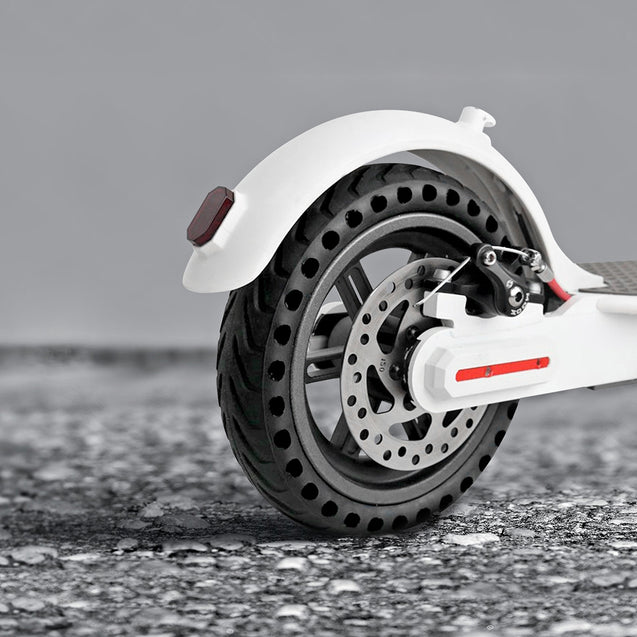 Coupcou.com: 21cm Rubber Solid Rear Tire with Hollow Design for Xiaomi M365 Electric Scooter