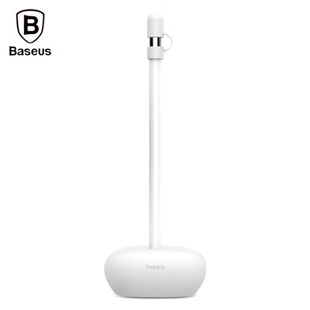 Baseus Pencil Silicone Holder Dustproof Portable with CapLIGHT GRAY
