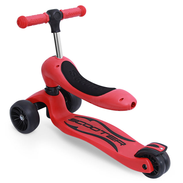 Coupcou.com: 2 in 1 Kick Scooter with Removable Seat Great for Kids