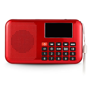 Coupcou.com: SCIMELO L - 228 Mini Digital LCD Display Screen Speaker FM Radio Music Player
