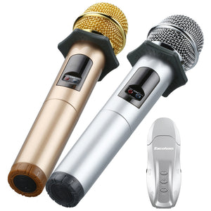 Coupcou.com: Excelvan K18U Trendy Microphone with Wireless Sound Card Set