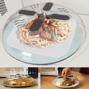 Coupcou.com: Hot Food Splatter Guard Microwave Hover Anti-Sputtering Cover with Steam Vents