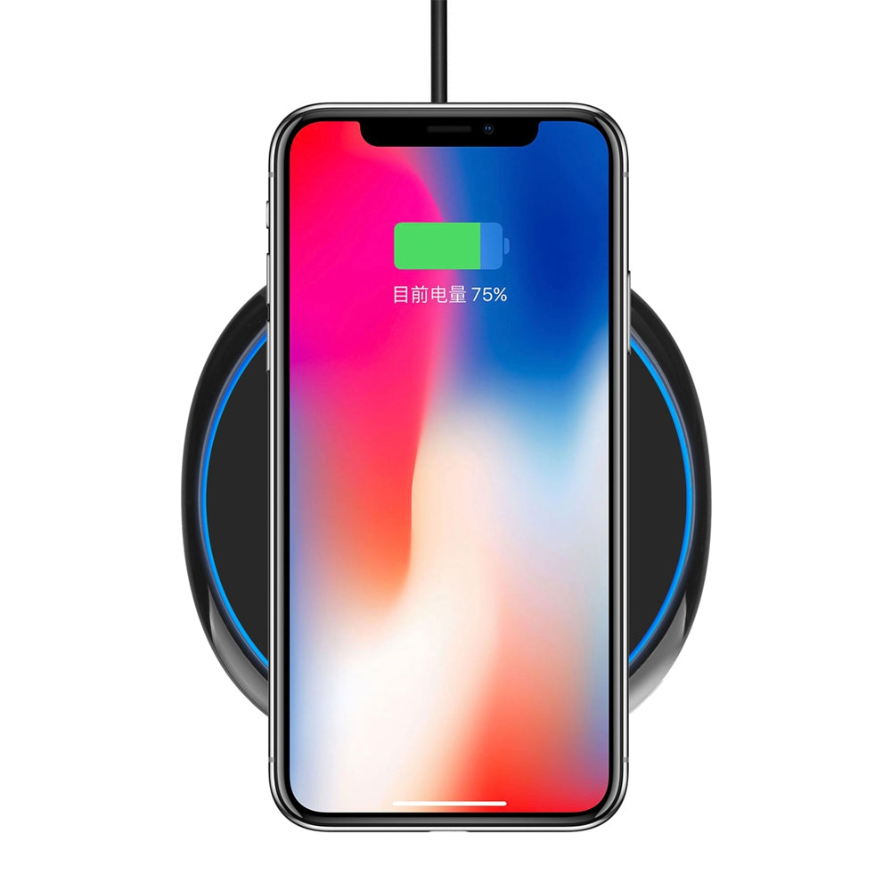 7.5W/10W Fast Wireless Charger Charging Pad for iPhone X/8/Samsung Galaxy S9/S8BLACK