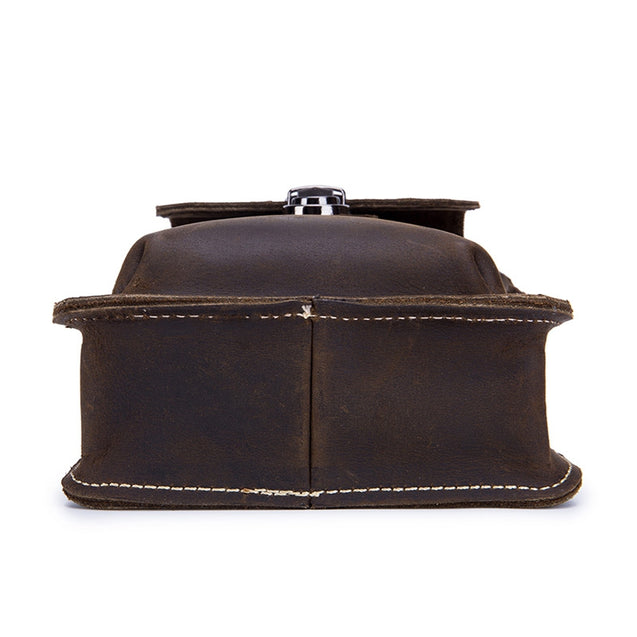 Coupcou.com: Genuine Leather Men's Chest Shoulder Belt Bag Small Back Pack