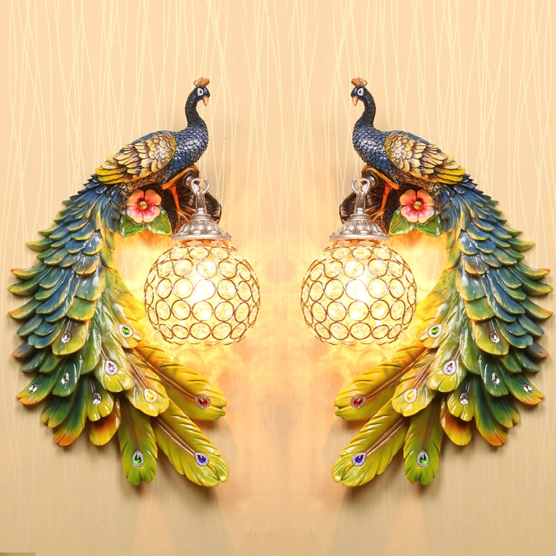 Contemporary Contracted Personality Wall Lamp Peacock Corridor North European Stair Bedrooms, Si...COLORFUL / 110-120V