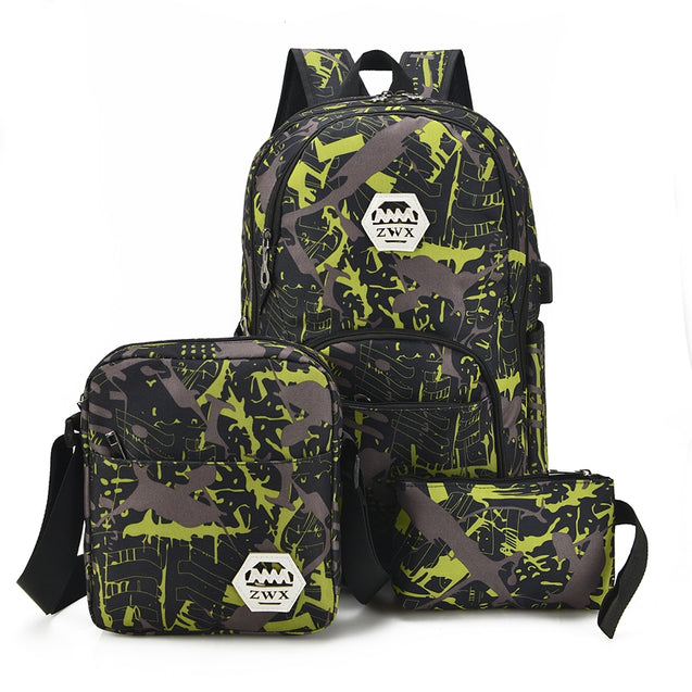 Coupcou.com: Fashion Waterproof Backpacks for Teenage Girls Casual Shoulder Bags Printing Camouflage Backbag