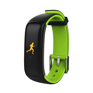 Coupcou.com: P1 Color OLED Tuch Screen Smart Wristband Smart Bracelet Heart Rate Monitor Pedometer Fitness Blood Pressure Band