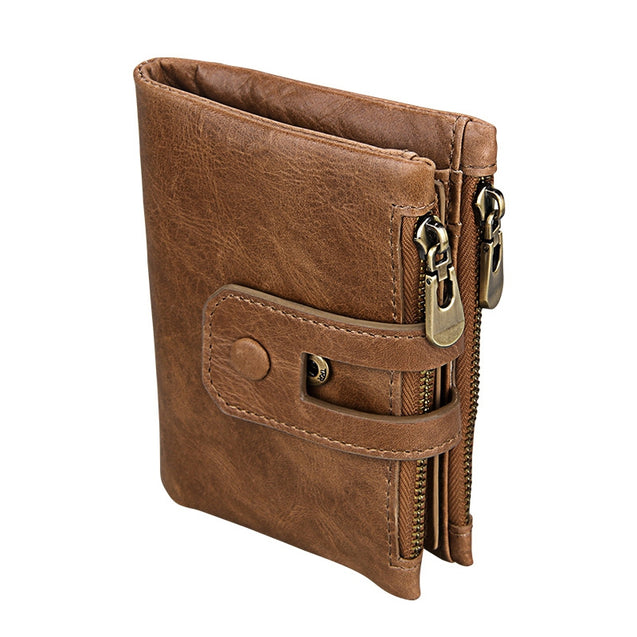 Coupcou.com: Short Genuine Leather Cowhide Men Wallet Business Card Coin Money Male Purse Card Holder