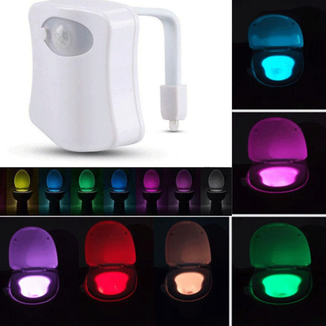 Coupcou.com: Toilet Night Light Bowl 8 Color LED Motion Activated Sensor Sensing Automatic