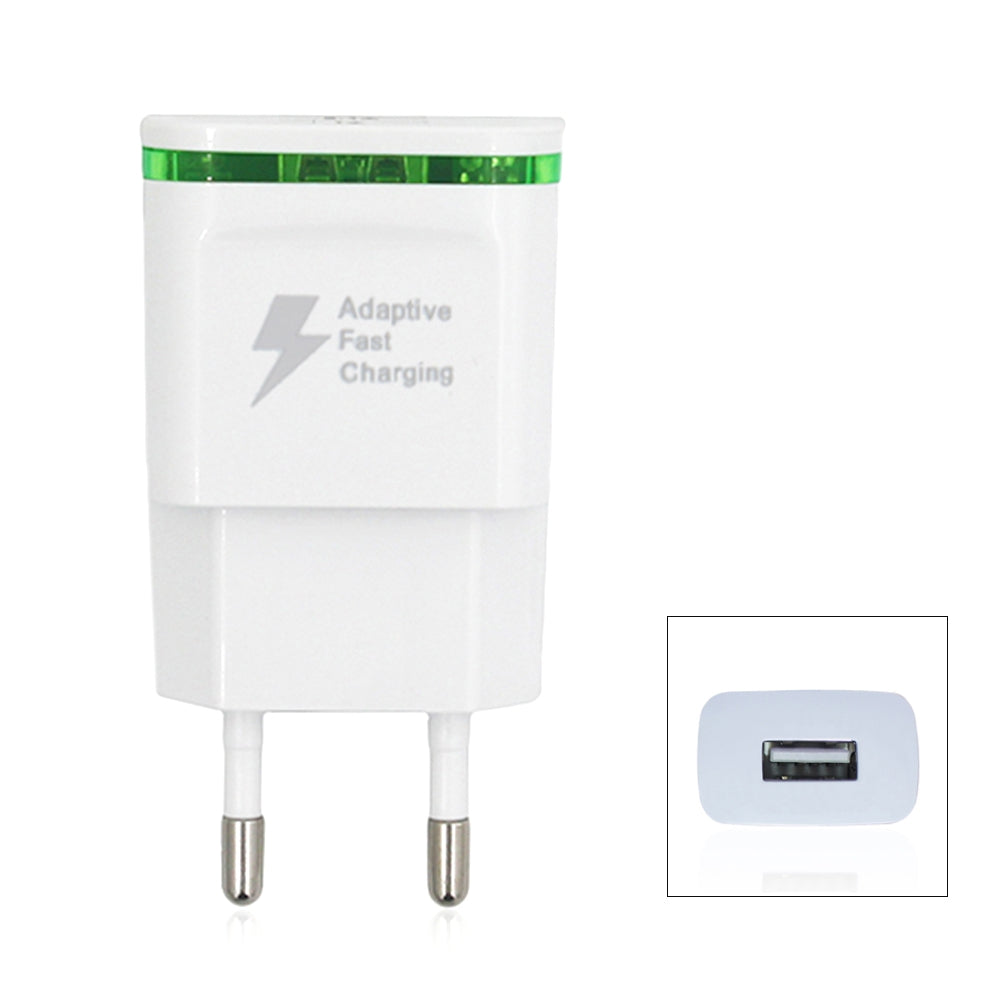 5V/2A Quick Charger EU Plug USB Charger Power AdapterWHITE