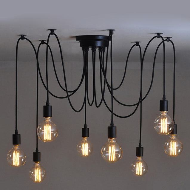 Coupcou.com: JUEJA Modern Spider Suspension 8 Heads Pendant Chandelier Home Lighting for Living Room / Dining / Bedroom