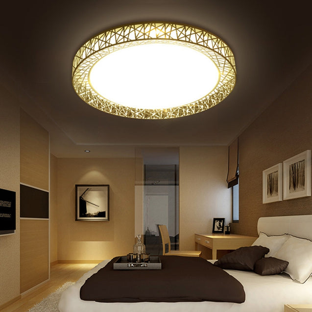 Coupcou.com: JUEJA Greek Style Iron Art 12W 11 inch LED Ceiling Light for Living Room Bedroom Corridor Balcony
