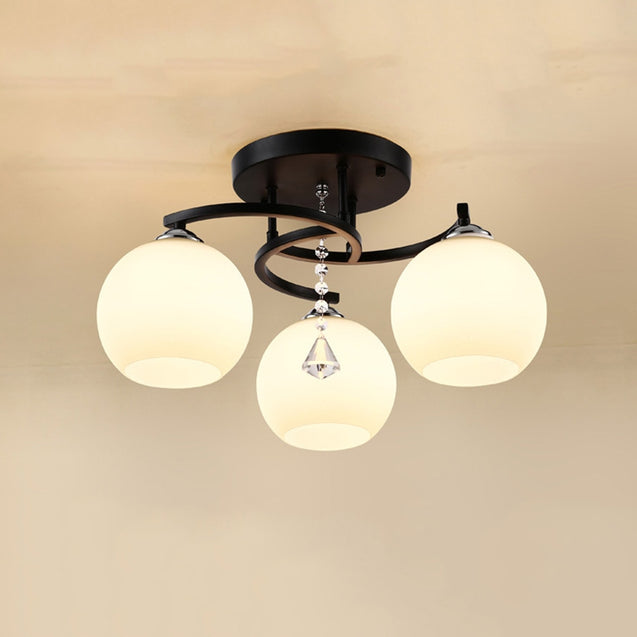 Coupcou.com: JUEJA Modern Minimalist 3 Heads Ceiling Lights LED Lamp for Living Room / Dining Room