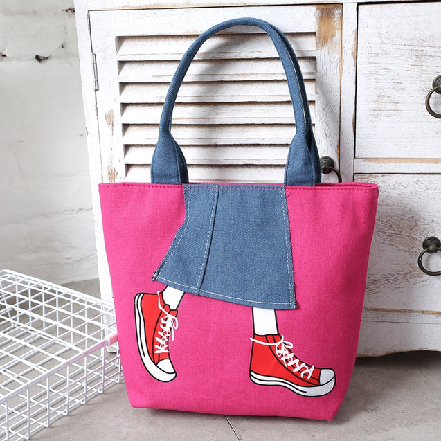 Coupcou.com: Canvas Girl Jean's Skirt Design Women Handbag Shoudler Bag