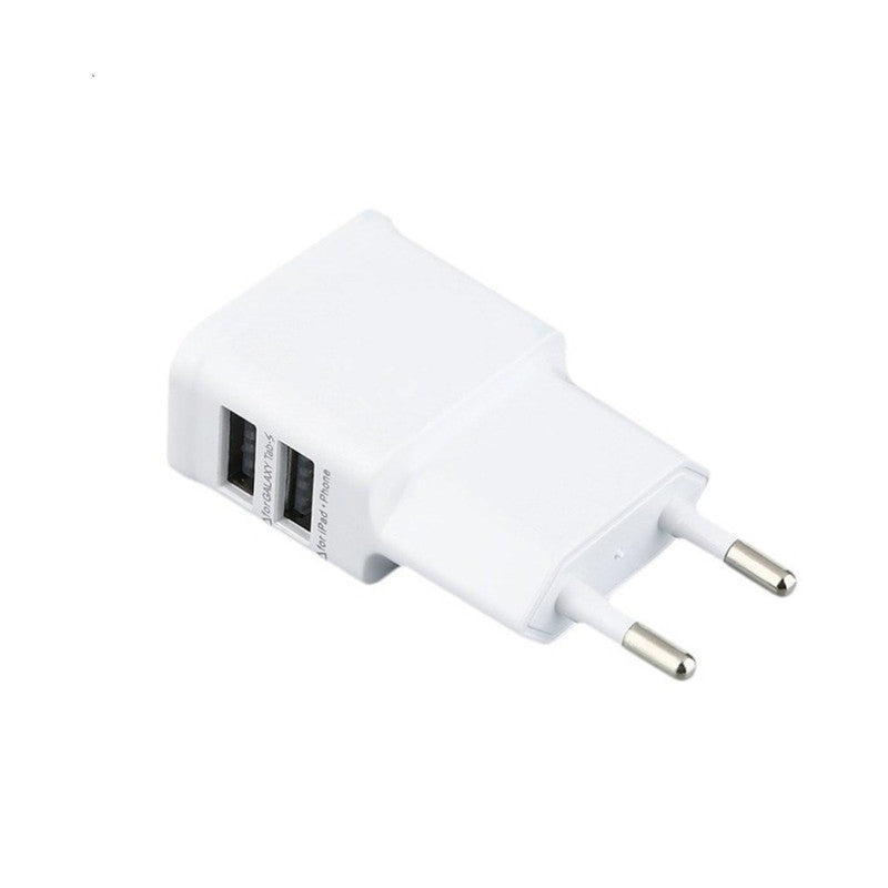 5V 2A  EU Standard Double USB Ports Charger Power Adapter