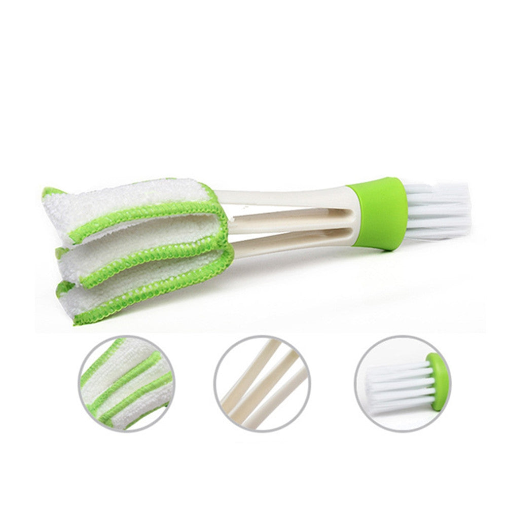 Dual-Head Car Air-Conditioning Cleaning Brush Keyboard Brush