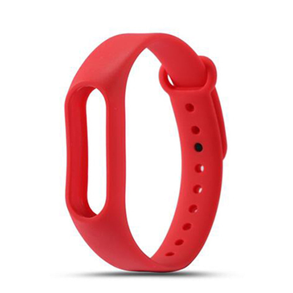 Colorful Silicone Wrist Strap Bracelet Replacement Watchband for Original Miband 2 Xiaomi Mi ban...RED