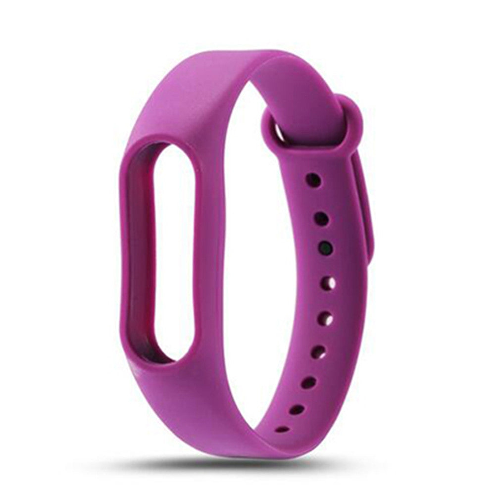 Colorful Silicone Wrist Strap Bracelet Replacement Watchband for Original Miband 2 Xiaomi Mi ban...PURPLE