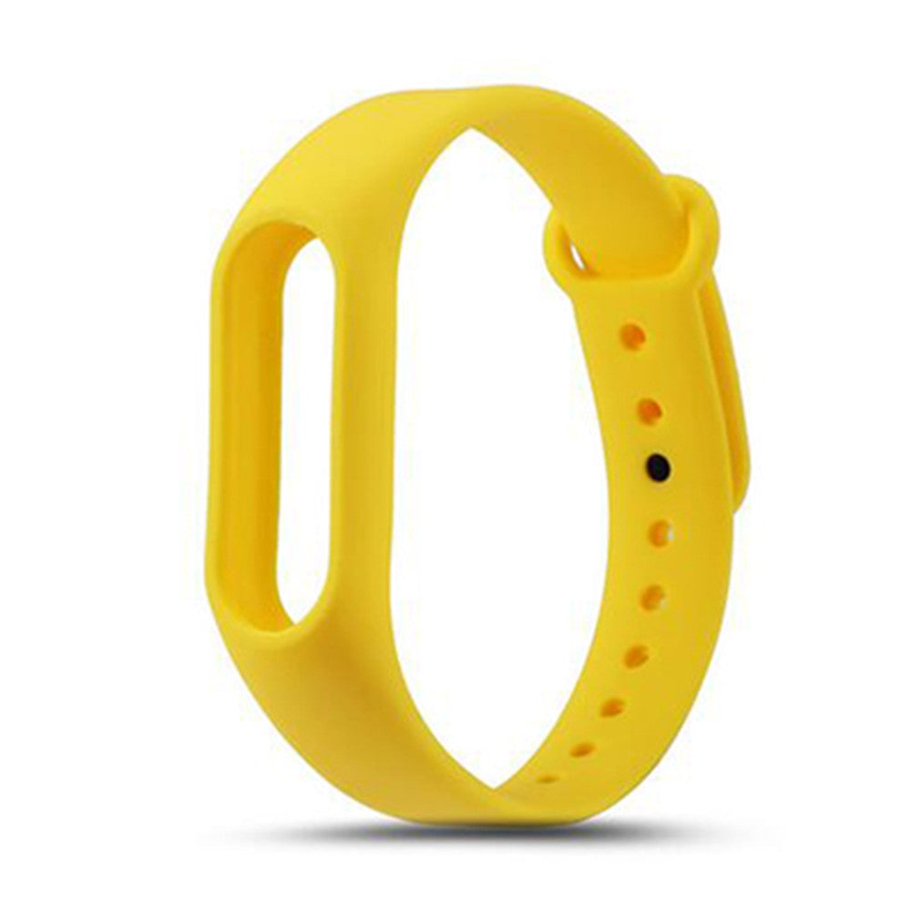 Colorful Silicone Wrist Strap Bracelet Replacement Watchband for Original Miband 2 Xiaomi Mi ban...YELLOW
