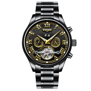 Coupcou.com: Skeleton Automatic Watch Men Waterproof Flying Tourbillon Mechanical Watches Mens Self Winding Horloges Mannen Dropship