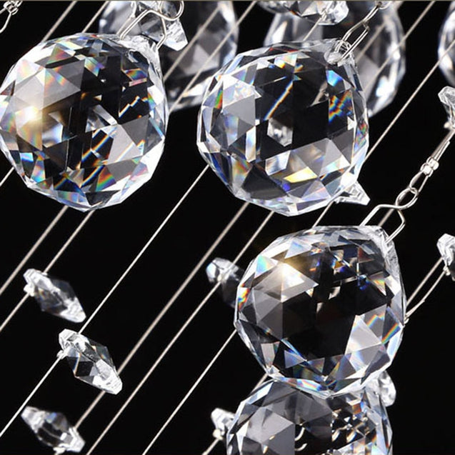 Coupcou.com: JUEJA Modern Crystal Chandeliers Lighting LED Pendant Lamp for Living Room / Dining / Bedroom / Hallway