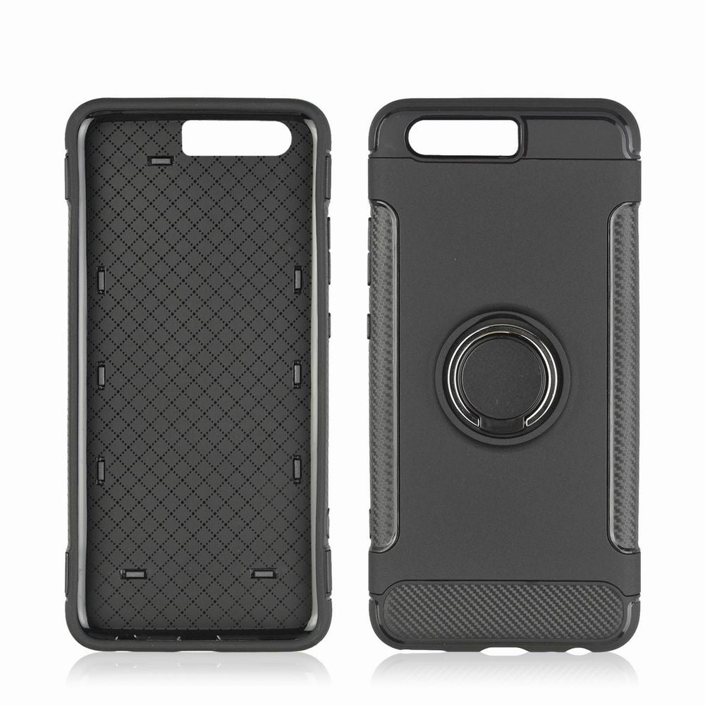 360 Degree Stents Cases for HUAWEI P10 Plus Case Ultra Thin Matte Phone Cover CaseBLACK