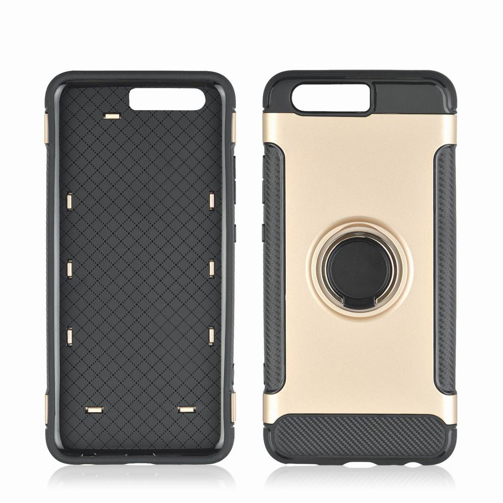 360 Degree Stents Cases for HUAWEI P10 Plus Case Ultra Thin Matte Phone Cover CaseROSE GOLD