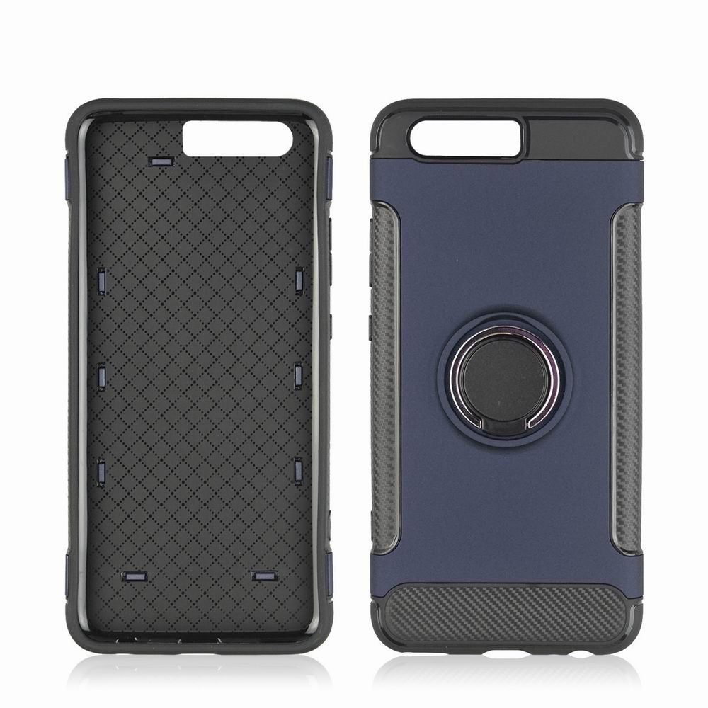 360 Degree Stents Cases for HUAWEI P10 Plus Case Ultra Thin Matte Phone Cover CaseBLUE