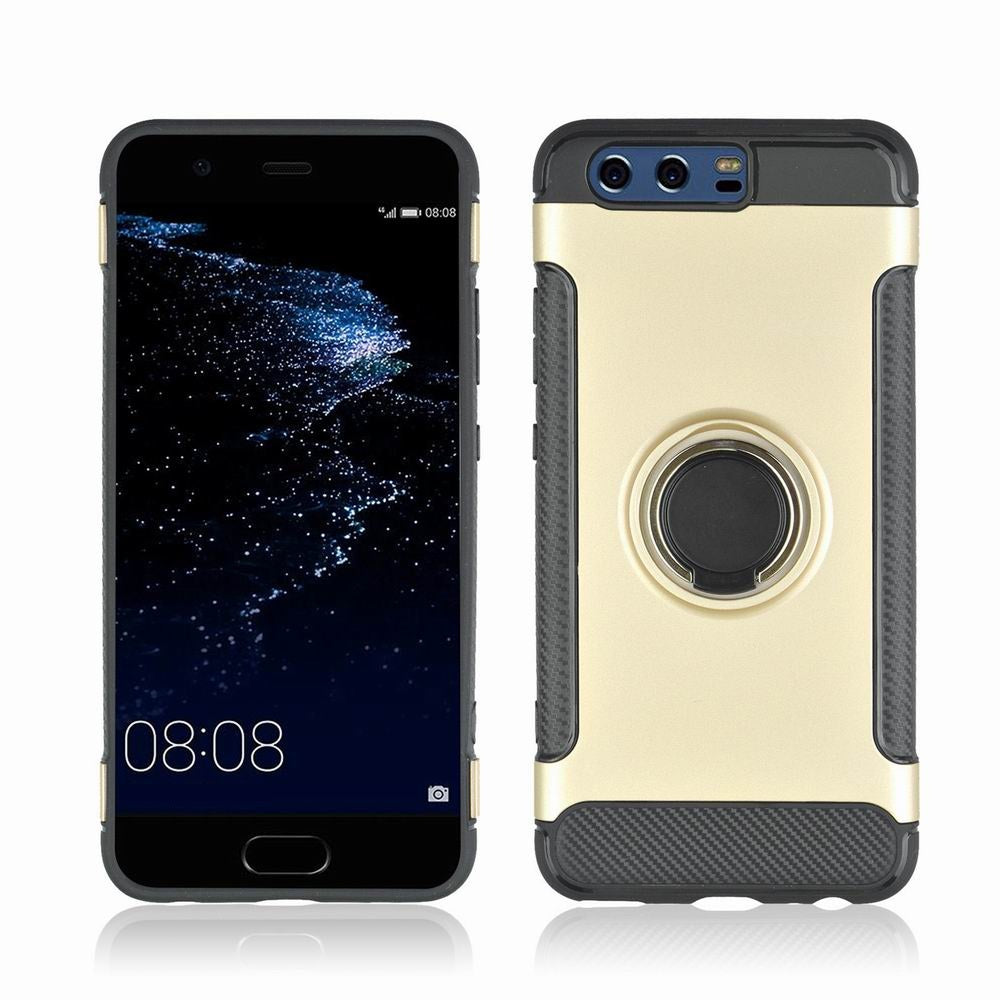 360 Degree Stents Cases for HUAWEI P10 Plus Case Ultra Thin Matte Phone Cover CaseGOLDEN