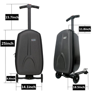IUBEST IU - DX01 3-wheel Electric Suitcase Scooter with Polyester Luggage / Aluminum Alloy Frame