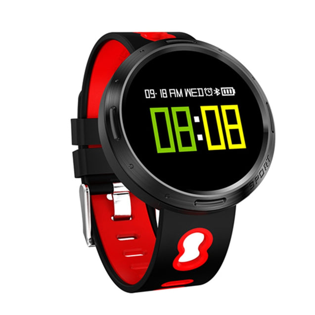 Coupcou.com: 2018 Metal 360 Color Smart Watch Swim IP68 Heart Rate Pulse/Blood Pressure/Oxygen Monitor Health For IOS/MOTO/Huawei PK
