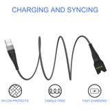 Nylon Braided 5ft  extended E-CIG Charging Cable