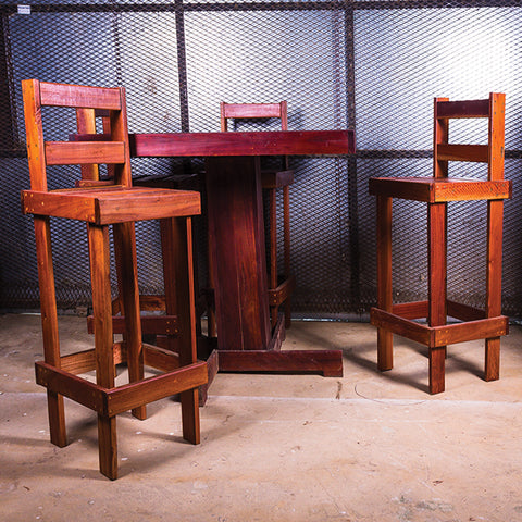 Sleeper Bar Table With Chairs