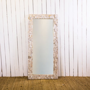 White 70 x 150 Chip Block CAH Mirror