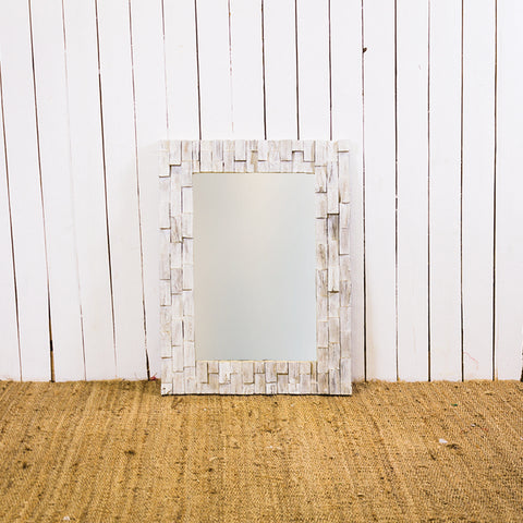 White 60 x 80 Chip Block CAH Mirror