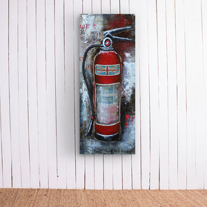 British Fire Extinguisher Metal Frame