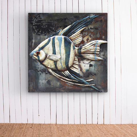 Stripe Fish Metal Artwork