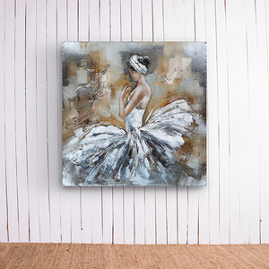 Ballet Dancer Sitting Metal Frame