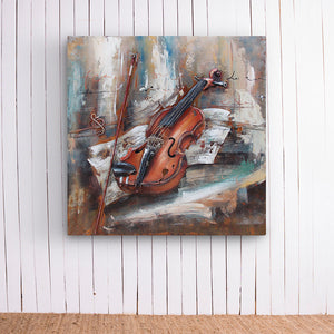 Violin Metal Artwork