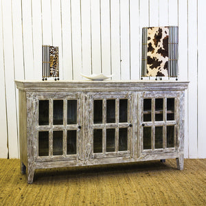 LY 3 Door Sandblasted Sideboard