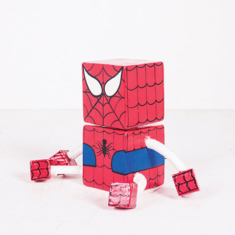 Small Joint Leg Spiderman Square