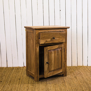 Stone HiFi Cabinet 1 Drawer Bedside Table