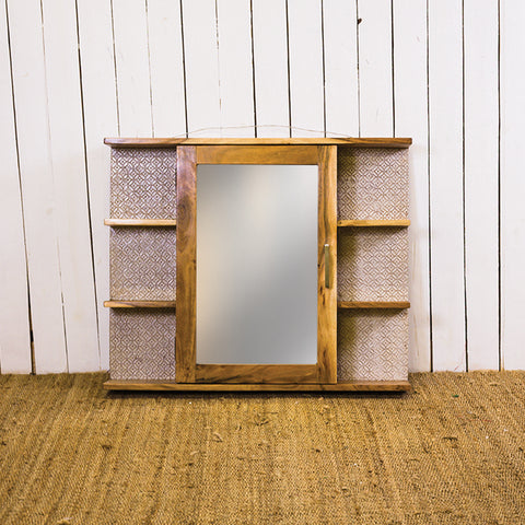 Acana Zen White Display Unit 1 Door With Mirror