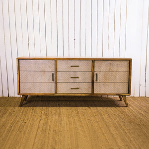 Acana Zen White Sideboard 3 Drawer 2 Door