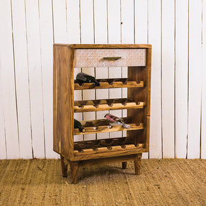 Acana Zen White Wine Rack 1 Drawer